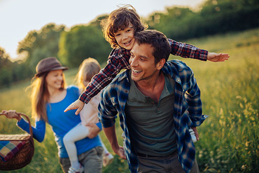 A family that receives superannuation management services in the Lismore area